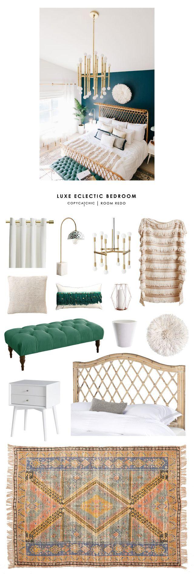 Copy Cat Chic Room Redo | Luxe Eclectic Bedroom