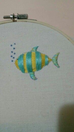 Pescadito bordado