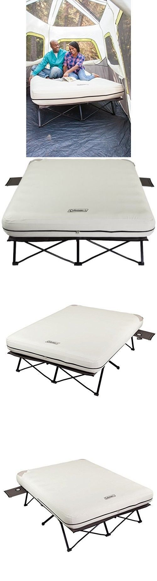 Mattresses and Pads 36114: Inflatable Camping Bed Queen Size Air Mattress  Steel Frame Cot Electric