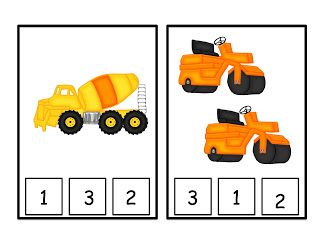 Preschool Printables: Construction Machines Printable Large