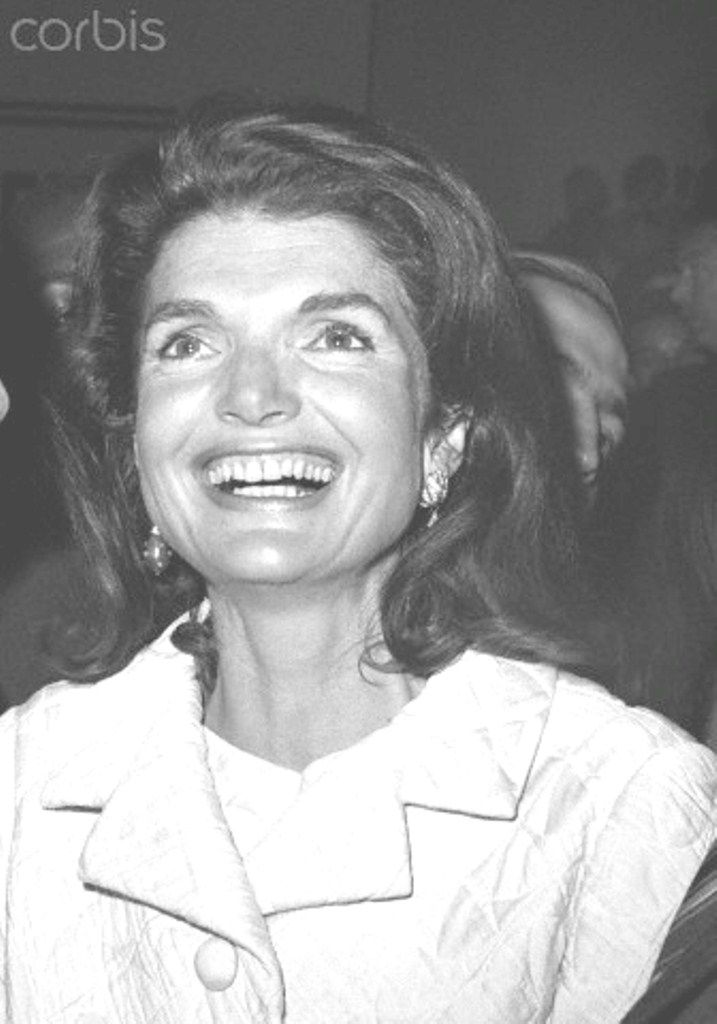 Mrs. Jacqueline Kennedy with her brother-in-law, Prince Radziwill at Robert campaign headquarters. NYC 5-7-68