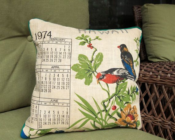 vintage linens upcycled into pillow covers