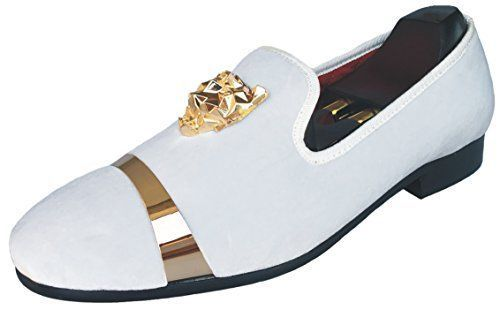 730fb72b0d4f3 Justyourstyle Men's Velvet Loafers Slippers with Gold Buckle Wedding ...