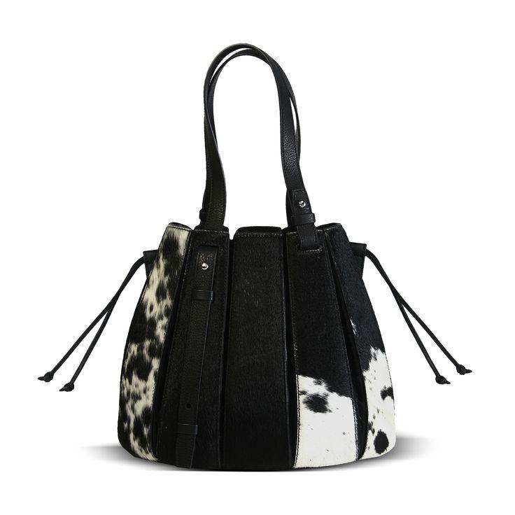 genuine african nguni - FERN handbag