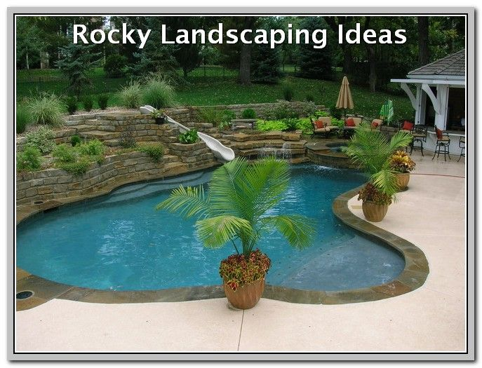 Simple Way To Make The Most Of Your Landscape Landscaping Lovers Backyard Pool Landscaping Swimming Pools Backyard Pool Landscaping