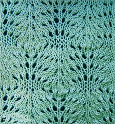 Swirling stitch - http://www.knittingstitchpatterns.com/2014/10/swirling.html