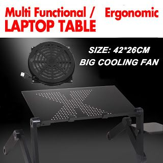 360 rolling mesa suporte para notebook stand for bed Folding Portalbe laptop table for bed with big cooling fan and mouse pad (32463481892)  SEE MORE  #SuperDeals