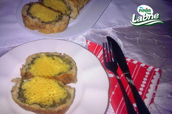 Labneli Ispanaklı Tavuklu Makarna Rulo Tarifi
