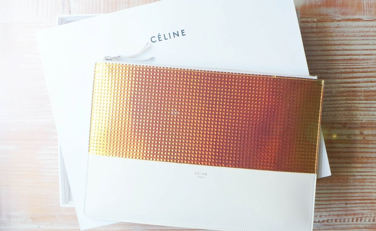 CELINE HOLOGRAPHIC CLUTCH | crazy for clutches... and well purses ...