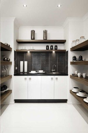 Metricon Fairhaven - pantry shelves  Our combined laundry/butlers pantry will look like this