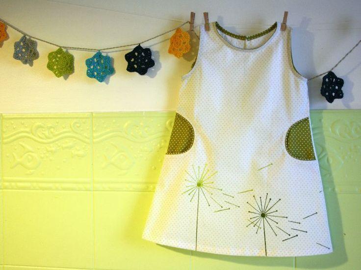 Tuto poche passepoil demicercle sur robe trapèze enfant (i.e. pour patron intemporels pour enfants)