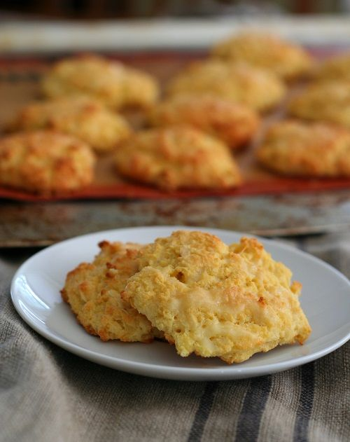 Low Carb Gluten Free Cheddar Drop Biscuits