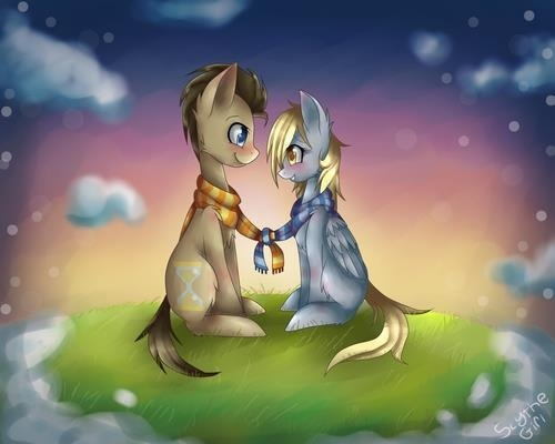 """He's the doctor I am derpy! We go through the universe every day and hopefully one day he'll start to love me as much as I love him."" It's a little something I put up for my special some pony."