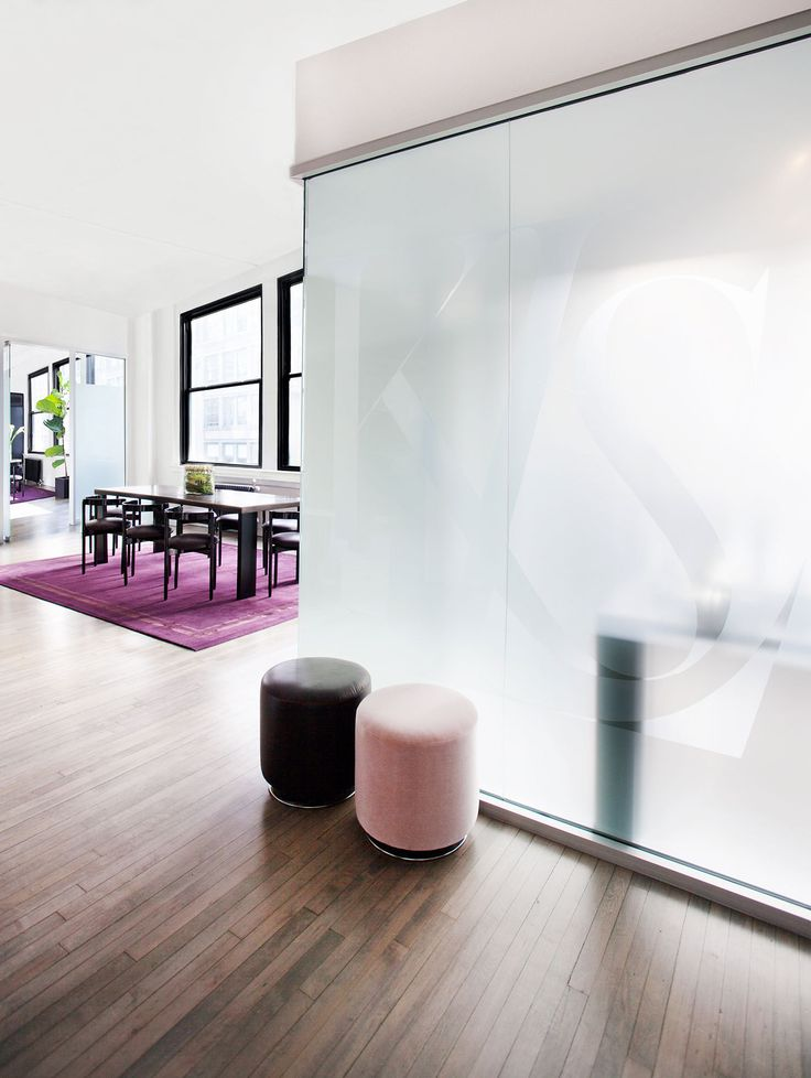 opaque glass walls. light + privacy