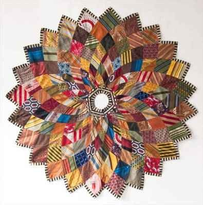 Recycled Necktie tree skirt