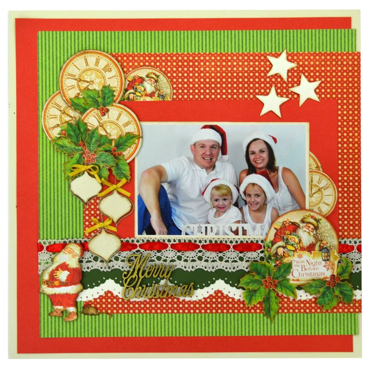 Merry Christmas Scrapbook Page