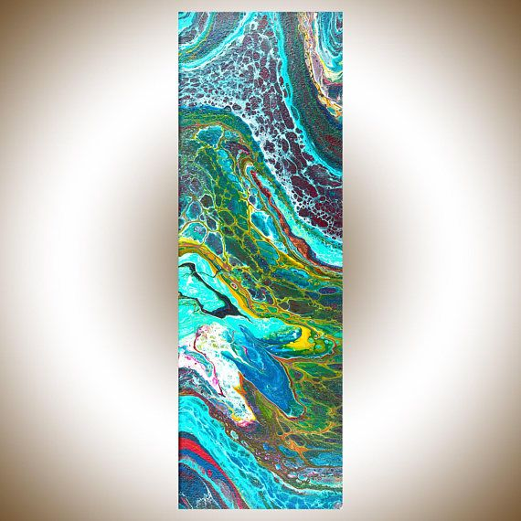 Go With The Flow 24 x 8 x 0.8 **SHIPPING: Canada Post Expedited to US or Canada. Your art will be shipped to you professionally packed with protective packaging material. If you are not in North America and require expedited delivery, please contact me prior to ordering the painting
