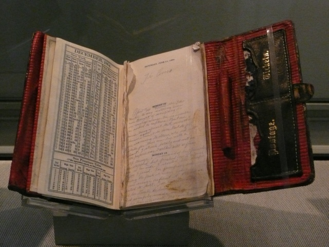 Diary John Wilkes Booth Movie Prop