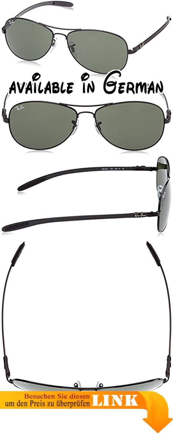 Ray Ban Unisex Sonnenbrille RB8301, Gr. Large (Herstellergröße: 59), Schwarz (Gestell: Schwarz, Gläser: Grün Klassisch 002). Demo lens. Protective case included #Apparel #EYEWEAR