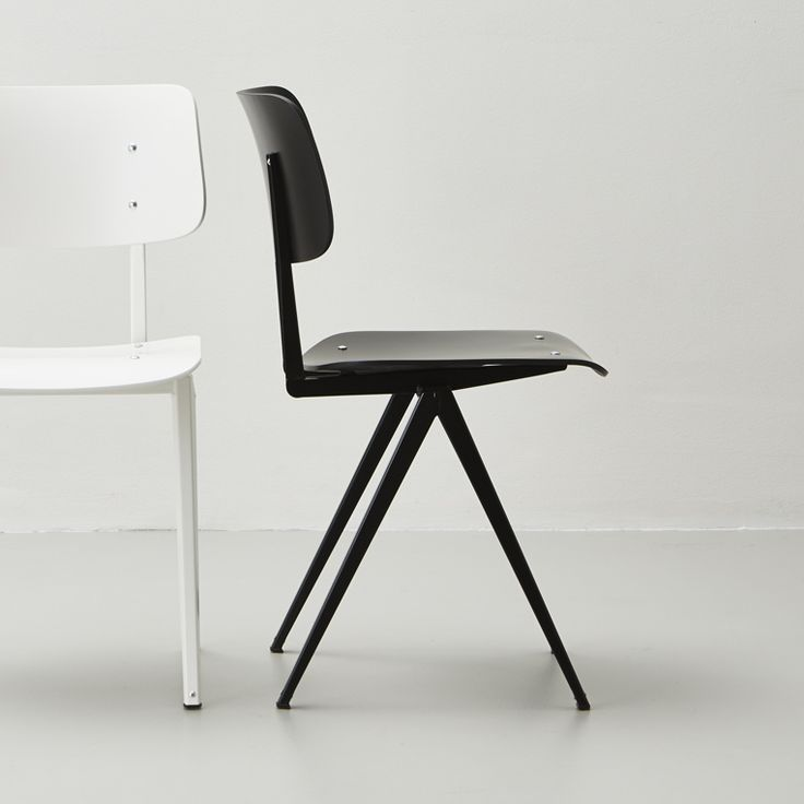 Galvanitas S16 stoel, zwart, Nederlands industriee