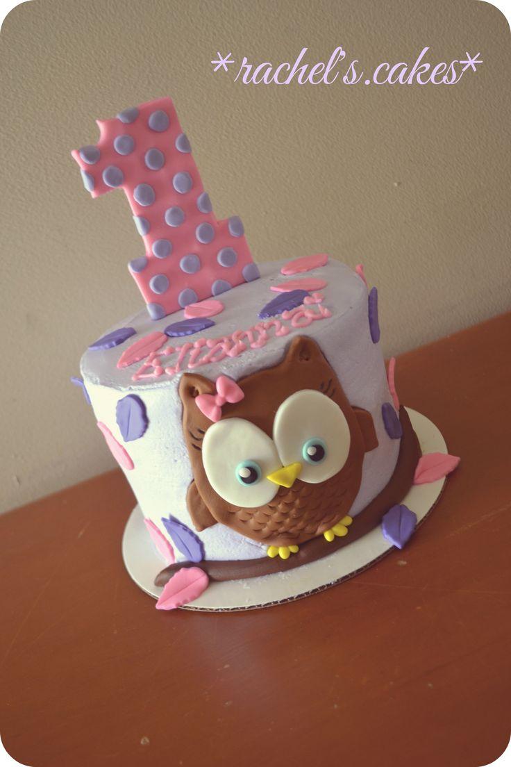 Owl theme smash cake
