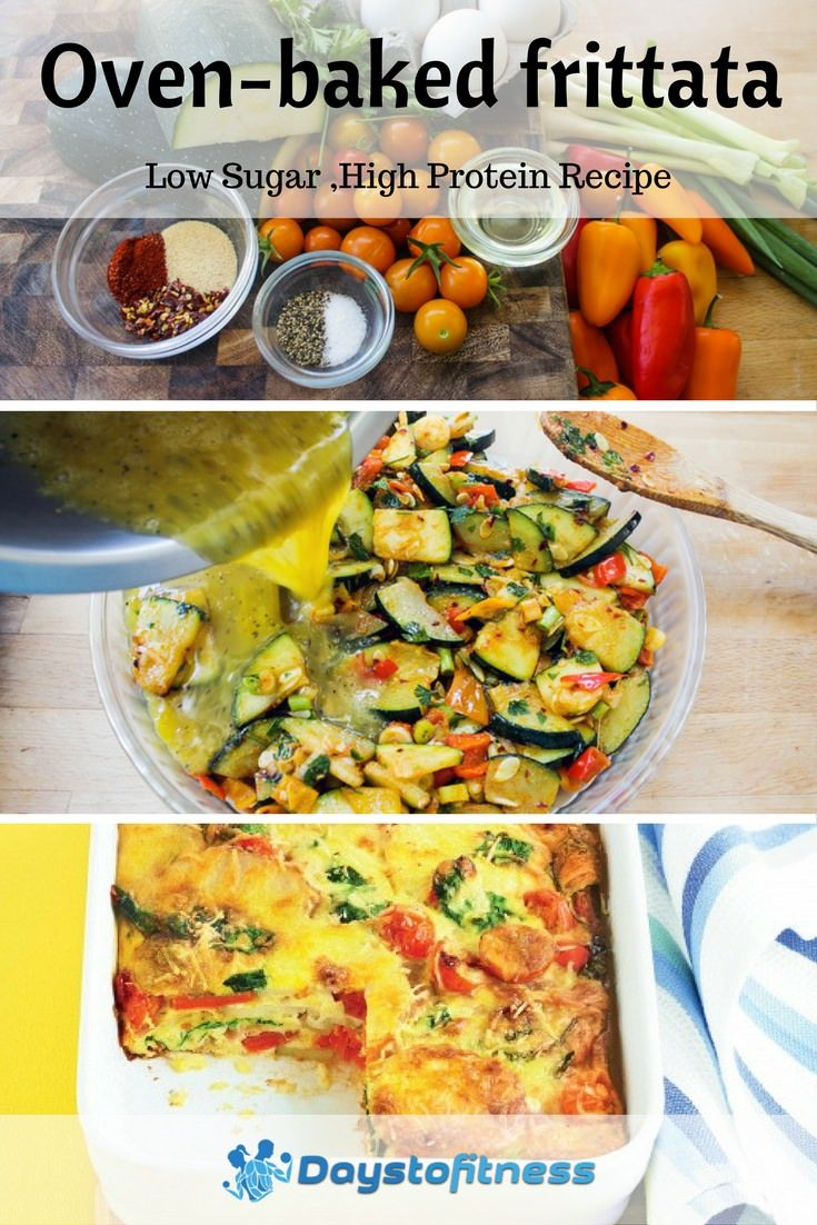 Low carb, high protein this healthy oven baked frittata is all made in the oven. via @https://www.pinterest.com/daystofitness/
