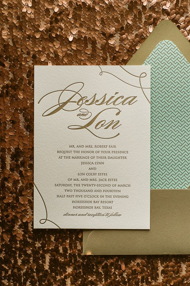 LAUREN Suite Art Deco Package, mint and gold wedding, art deco, deco pattern, deco wedding invitations, letterpress wedding invitations, Great Gatsby inspired, http://justinviteme.com/collections/styled-collections/products/lauren-suite-styled-art-deco-package