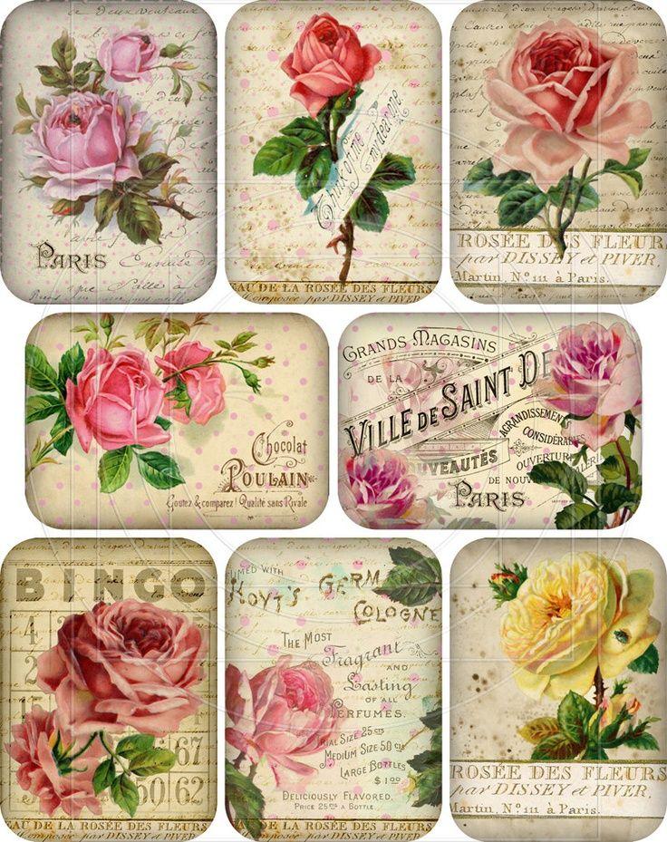 Etiquetas tags rosas roses vintage.