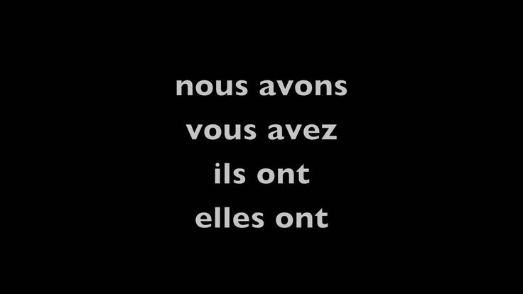 être and avoir/ to be and to have