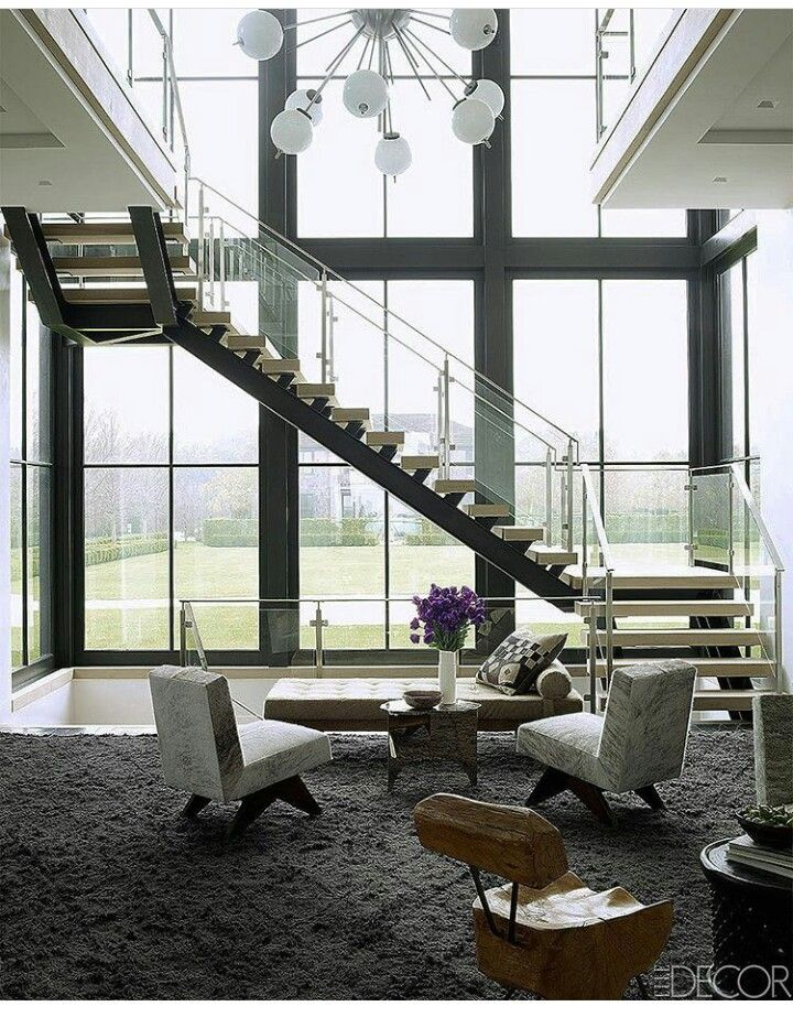 Hamptons Beach Houses, Interior Designing, Cottage, Mezzanine, Park City,  Stairs, Modern Living Rooms, Staircases, Container