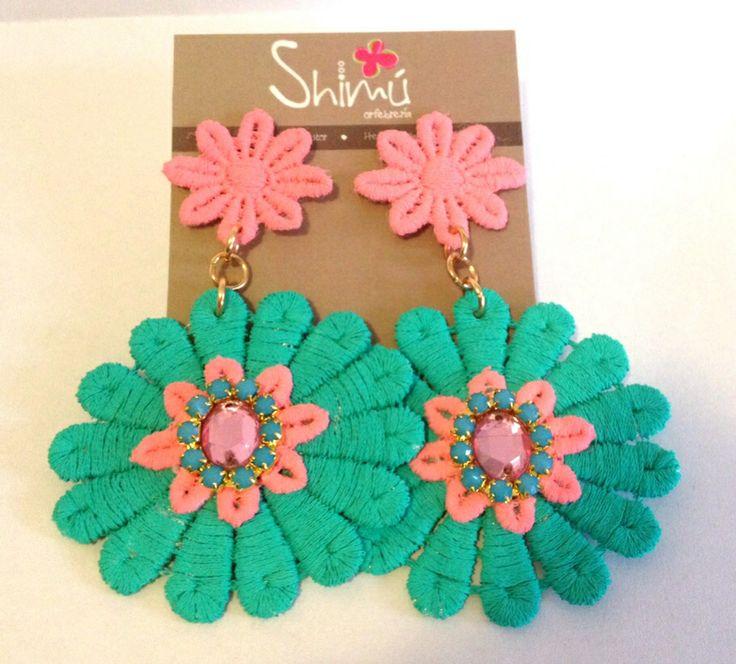Nuevos zarcillos flores / New flower earrings Handmade summer