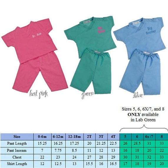 Monogrammed Kids' Scrubs Personalized Infant and Toddler