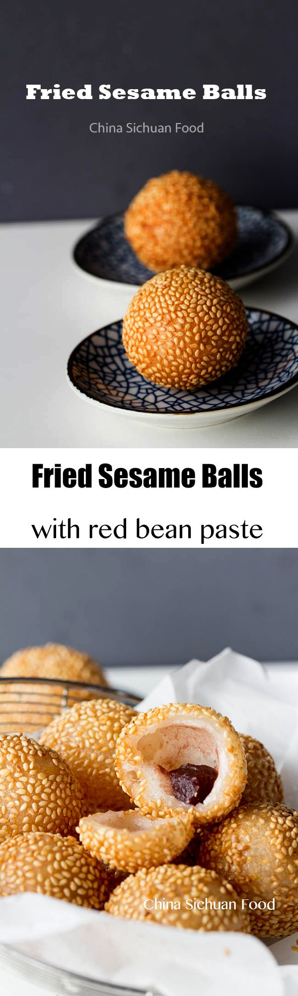 Fried sesame balls--a #dimsum with red bean paste
