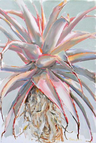 Large Aloe Oil Painting - SOLD