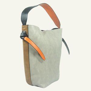 'Trieste' Grey Color Block Hobo Fashion Handbag by Inzi