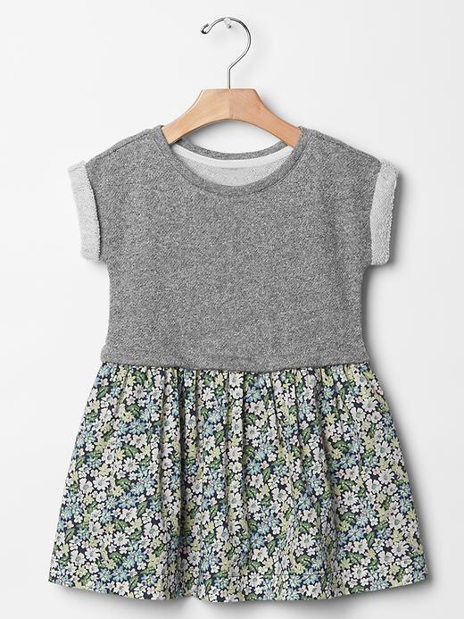 Floral mix-media dress #babygap