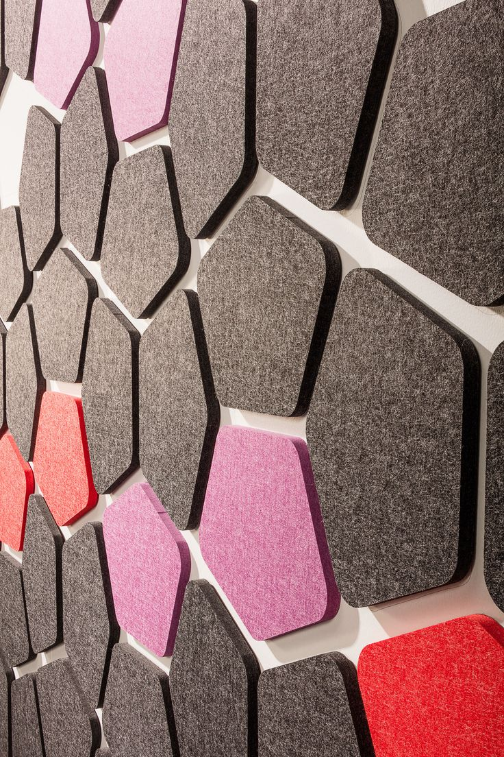 Kirei echopanel geometric tiles building for health - Break Up The Boring White Walls With This New Peel And Stick Tile From Kirei