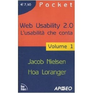 Web Usability 2.0 L'usabilità che conta.  Libro di formazione base sull'usabilità.  In 2 volumi pocket.
