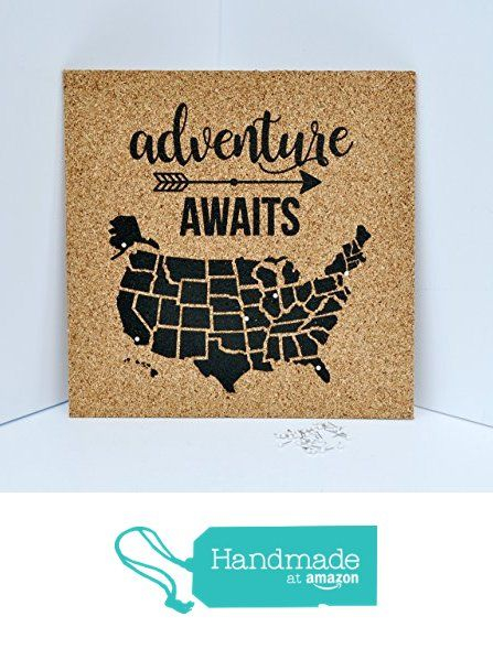 Adventure Awaits Push Pin Cork Travel Map of the United States / Wanderlust Travel Gift / USA Bulletin Board / US Corkboard from Been There, Pinned That! https://www.amazon.com/dp/B01N3KJBUP/ref=hnd_sw_r_pi_dp_CaIEzb4QPZ7H3 #handmadeatamazon