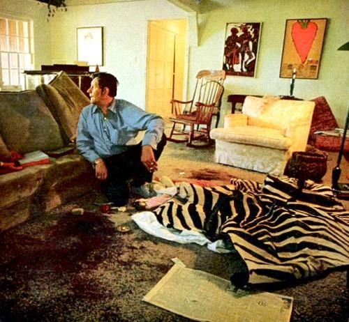 sharon tate crime scene photos | Sharon Tate crime scene. The photo with Roman is the real photo as it ...