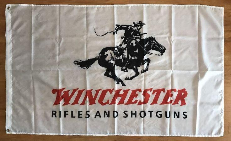 Winchester Rifle and Shotguns Flag Banner 3X5 FT Man Cave Garage 2nd Amendment  #Winchester