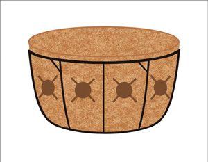 Pamela Crawford Basket Planter-Side Planting Baskets-Planter Liner Set