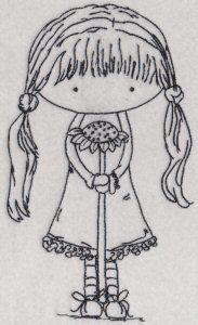 Niña con flor