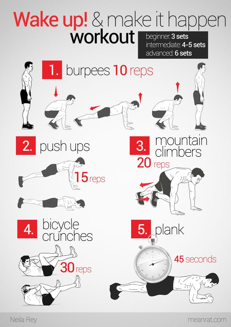At home workout.