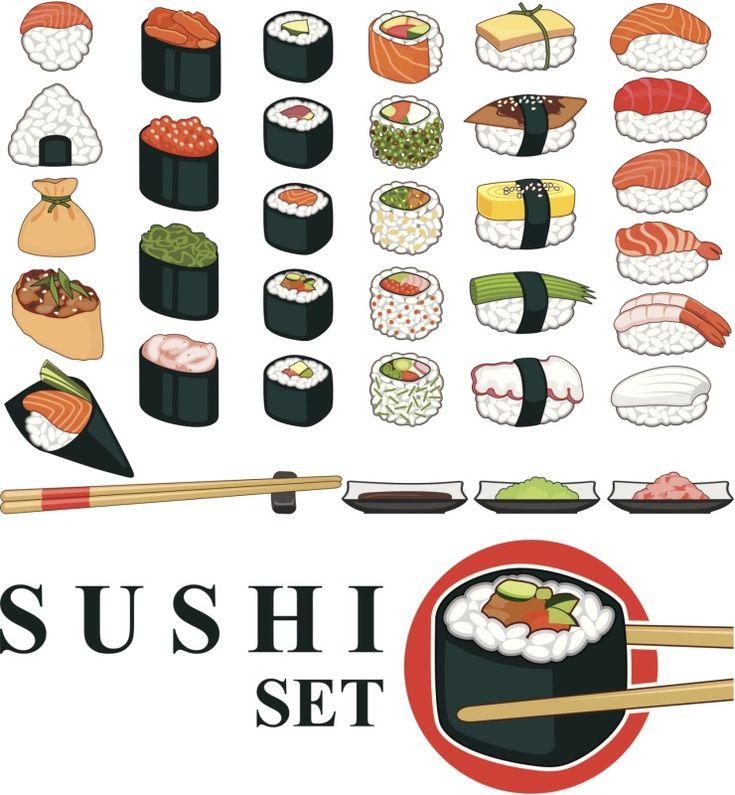 Tipos de rollos de sushi (makis)