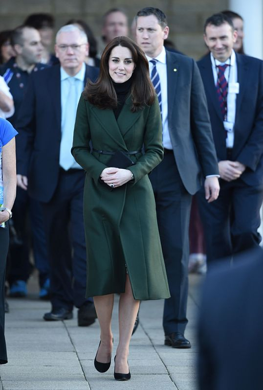 Catherine, Duchess of Cambridge visits St. Catherine's Primary School on February 24, 2016 in Edinburgh, Scotland. The Duchess, Royal Patron of Place2Be, was visiting the school to see some of the charity's work in Scotland.