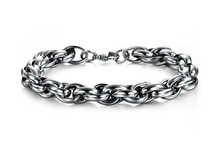Stainless Steel Intertwined Chain Bracelet http://www.sneakoutfitters.com/Jewelry/Stainless-Steel-Intertwined-Chain-Bracelet-p4260.html