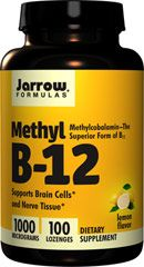 Methyl Vitamin B-12 1,000 mcg <p>From the Manufacturer's Label: </p><p>The Superior Form of B12: Methylcobalamin<br /><br />Supports Brain Cellsand Nerve Tissue**<br /><br />Methylcobalamin (Methyl B-12) is better absorbed and retained than other forms of B12 (e.g., cyanocobalamin).** Methyl B-12 supports nerve tissue and brain cells, promotes better sleep and reduces homocysteine to the essential amino acid methionine.** Also, vegetarians/