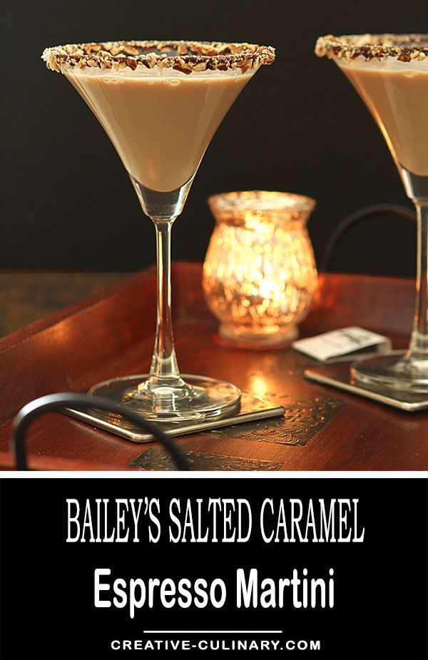 The Bailey's Salted Caramel and Espresso Martini is a fantastic dessert cocktail for the holidays; from Valentine's Day to the end of the year...it's totally delicious! via @creativculinary