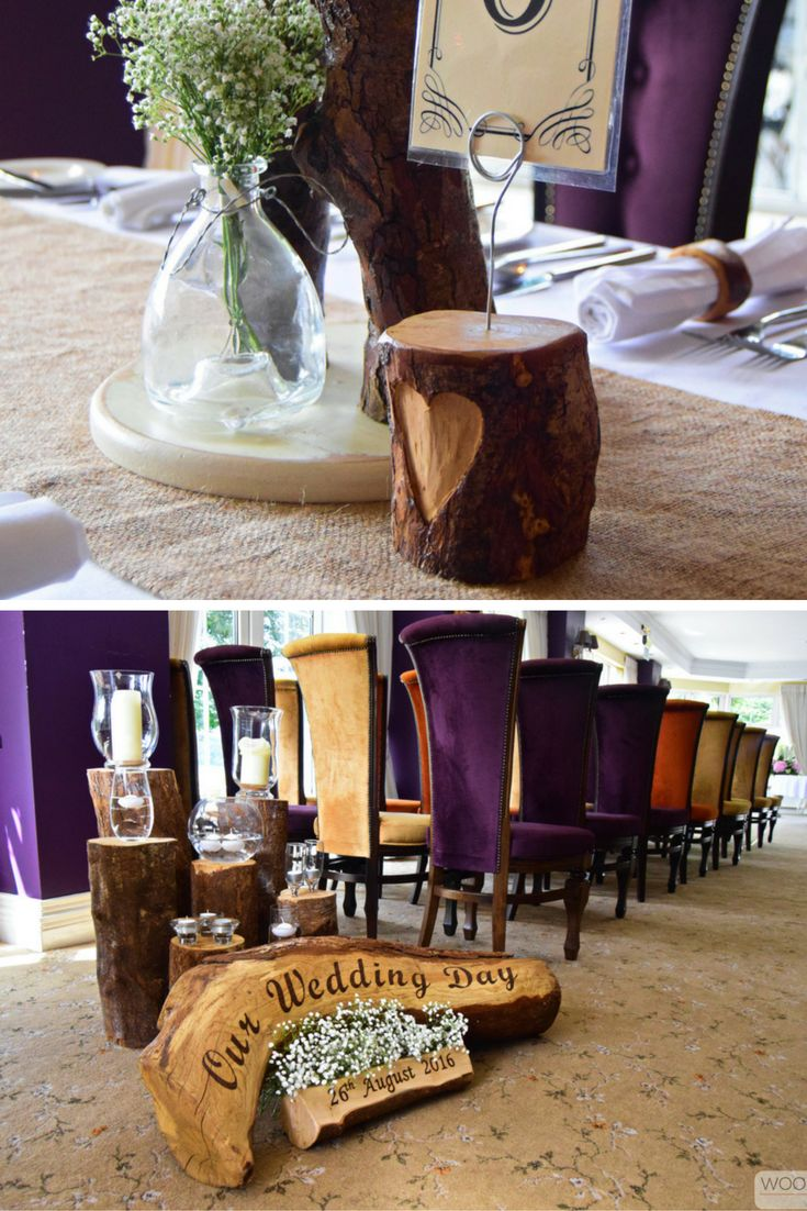 wedding reception at home ideas uk%0A Rustic wooden wedding decor at recent weddings at The Red Door Country House   www